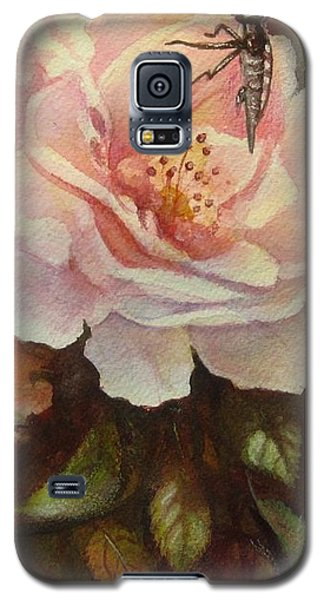 Galaxy S5 Case featuring the painting Enchanted by Patricia Schneider Mitchell