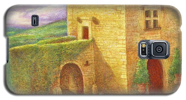 Galaxy S5 Case featuring the painting Enchanting Fairytale Chateau Landscape by Judith Cheng