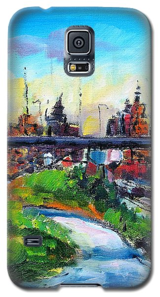 Galaxy S5 Case featuring the painting Encroaching Parkland by Les Leffingwell
