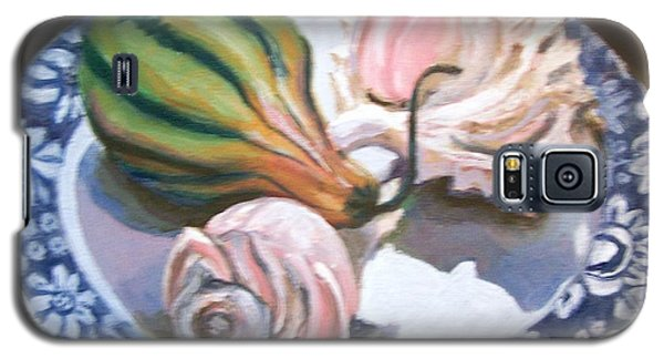 Galaxy S5 Case featuring the painting End Of Summer by Laura Aceto