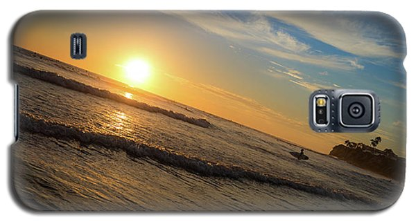 End Of Summer Sunset Surf Galaxy S5 Case