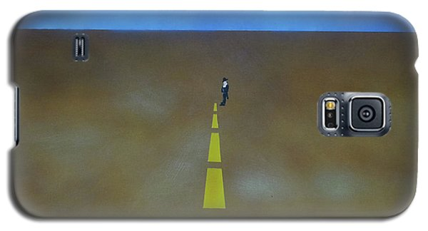 Galaxy S5 Case featuring the painting End Of The Line by Thomas Blood
