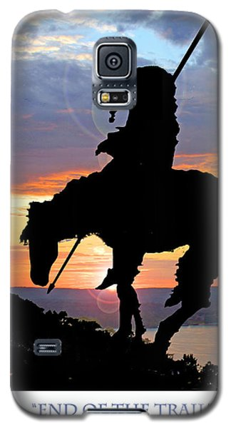 End Of The Trail Sculpture In A Sunset Galaxy S5 Case