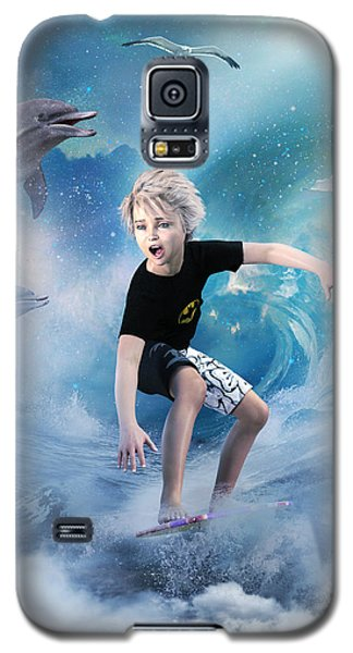 Galaxy S5 Case featuring the digital art Endless Wave by Shanina Conway