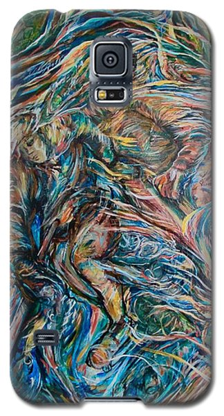 Galaxy S5 Case featuring the painting Energy by Dawn Fisher