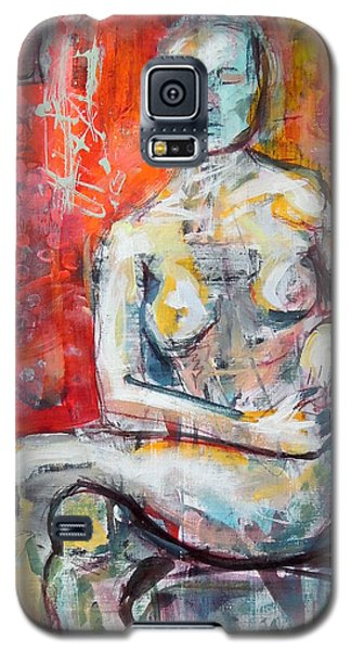 Galaxy S5 Case featuring the painting Energy In Stillness by Mary Schiros