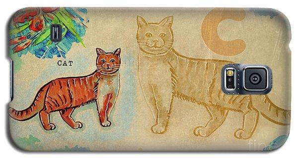 English Alphabet , Cat Galaxy S5 Case