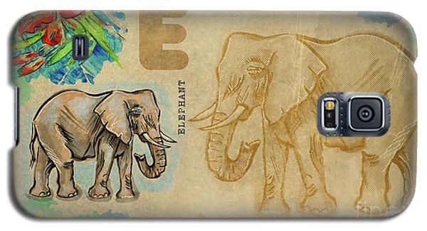English Alphabet , Elephant Galaxy S5 Case