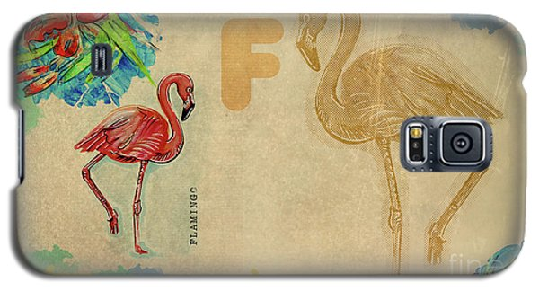 English Alphabet , Flamingo Galaxy S5 Case