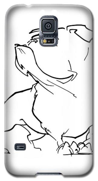 English Bulldog Gesture Sketch Galaxy S5 Case