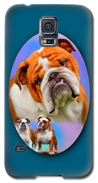 English Bulldog- No Border Galaxy S5 Case