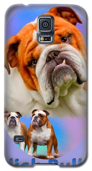 English Bulldog With Border Galaxy S5 Case