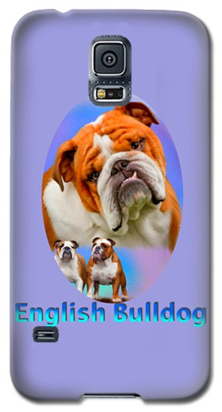 English Bulldog With Border Galaxy S5 Case