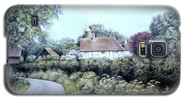Galaxy S5 Case featuring the painting English Country Lane by Rosemary Colyer