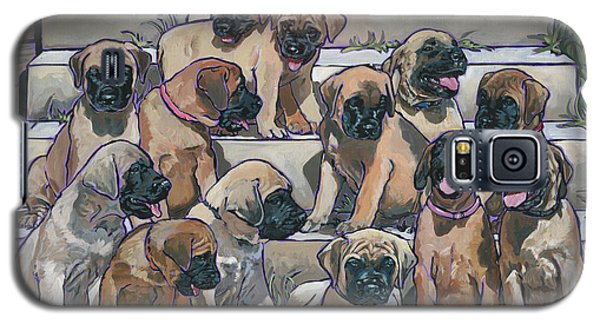 Galaxy S5 Case featuring the painting English Mastiff Puppies by Nadi Spencer