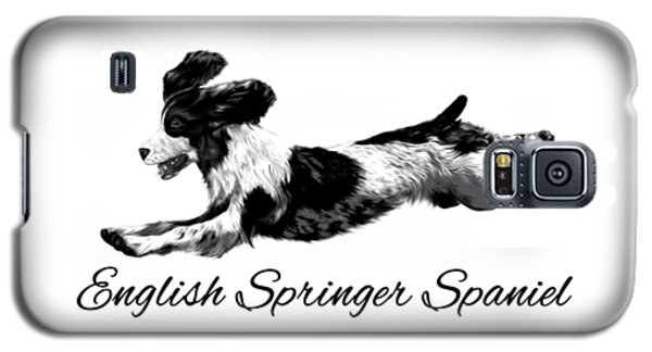 Galaxy S5 Case featuring the digital art English Springer Spaniel by Ann Lauwers