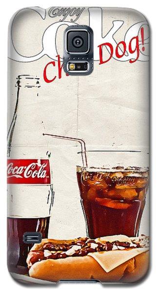Enjoy Coca-cola With Chili Dog Galaxy S5 Case