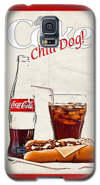 Enjoy Coca-cola With Chili Dog Galaxy S5 Case