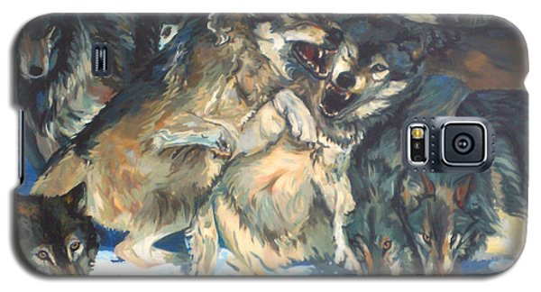 Galaxy S5 Case featuring the painting Enjoying Their Prey by Koro Arandia