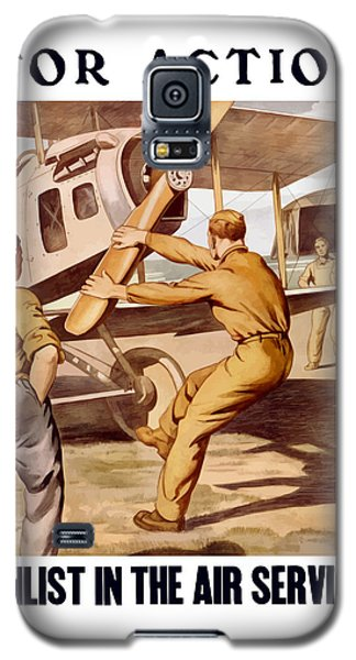 Enlist In The Air Service Galaxy S5 Case by War Is Hell Store
