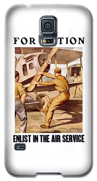 Enlist In The Air Service Galaxy S5 Case