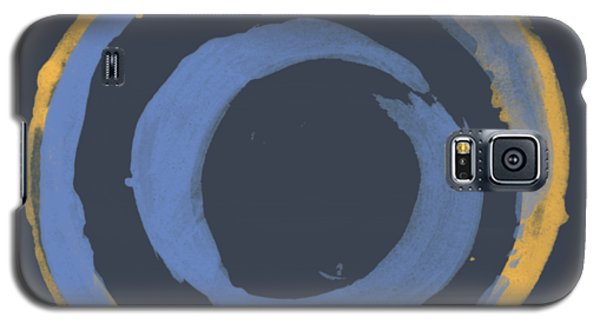 Galaxy S5 Case featuring the painting Enso T Blue Orange by Julie Niemela