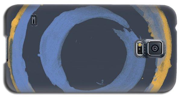 Enso T Blue Orange Galaxy S5 Case by Julie Niemela
