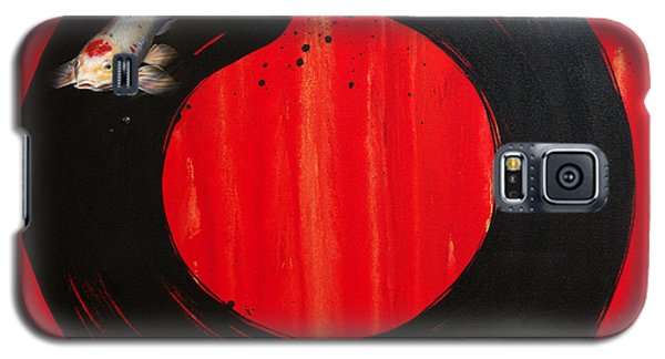 Enso With Koi Red And Gold Galaxy S5 Case