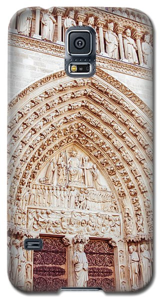 Entrance To Notre Dame Cathedral Galaxy S5 Case