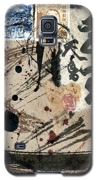 Galaxy S5 Case featuring the mixed media Envelope Collage With Japanese Postage Stamps by Carol Leigh