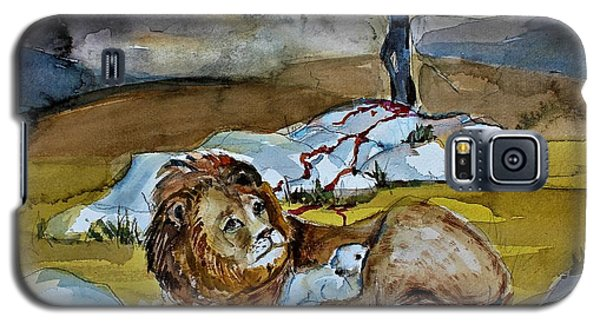 Galaxy S5 Case featuring the painting Ephesians 2 13 by Mindy Newman