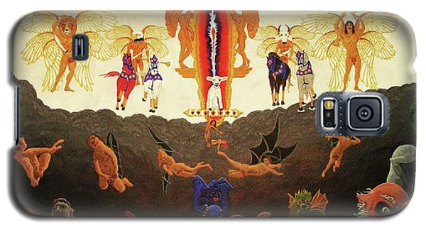 Galaxy S5 Case featuring the painting Epic - In The Valley Of Megiddo by Rand Swift