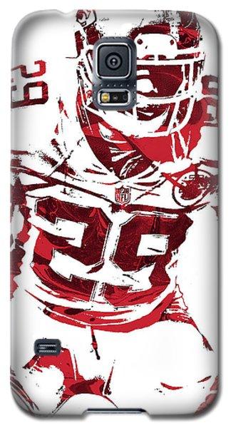 Galaxy S5 Case featuring the mixed media Eric Berry Kansas City Chiefs Pixel Art 2 by Joe Hamilton