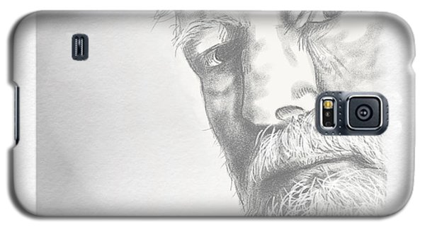 Galaxy S5 Case featuring the drawing Ernest Hemingway by Antonio Romero