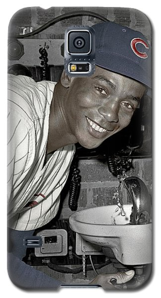 Ernie Banks At Cubs Water Fountain Galaxy S5 Case
