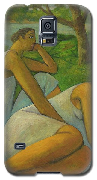 Galaxy S5 Case featuring the painting Eros And Rhea by Glenn Quist