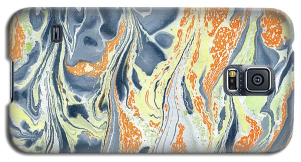 Galaxy S5 Case featuring the painting Erupting Lava by Menega Sabidussi
