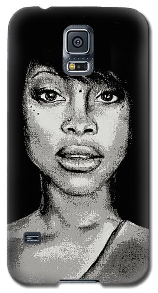 Erykah Baduism - Pencil Drawing From Photograph - Charcoal Pencil Drawing By Ai P. Nilson Galaxy S5 Case