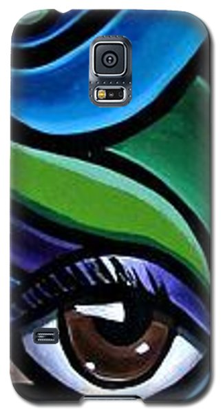 Colorful Abstract Art Painting, Modern Art Brown Eye Art Paintings Galaxy S5 Case