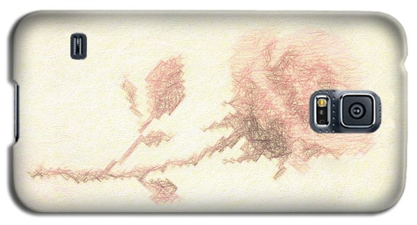 Galaxy S5 Case featuring the photograph Etched Red Rose by Linda Phelps
