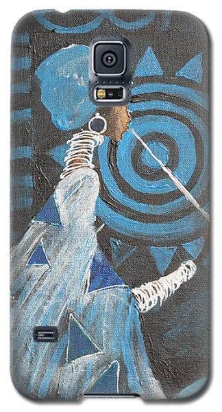 Galaxy S5 Case featuring the painting Ethno Session  by Maya Manolova