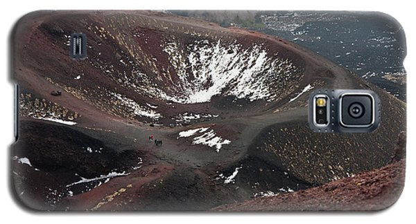 Etna, Red Mount Crater Galaxy S5 Case