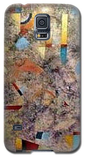 Galaxy S5 Case featuring the painting Euclidean Perceptions by Bernard Goodman