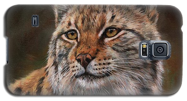 Galaxy S5 Case featuring the painting Eurasian Lynx by David Stribbling
