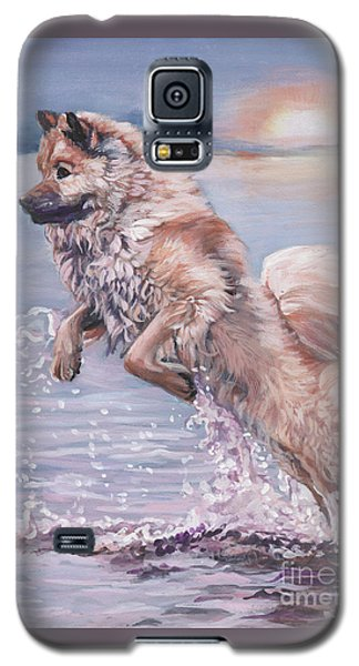 Galaxy S5 Case featuring the painting Eurasier In The Sea by Lee Ann Shepard