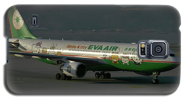 Galaxy S5 Case featuring the photograph Eva Air Airbus A330-203 by Tim Beach