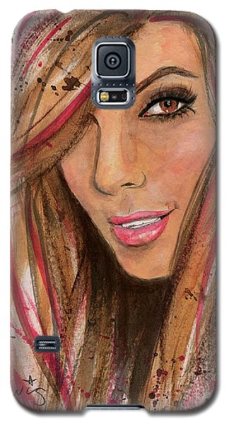 Galaxy S5 Case featuring the painting Eva Longoria by P J Lewis