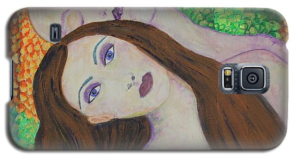 Galaxy S5 Case featuring the painting Eve Emerges by Kim Nelson