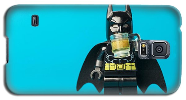 Superhero Galaxy S5 Case - Even Batman Needs A Beer by Samuel Whitton