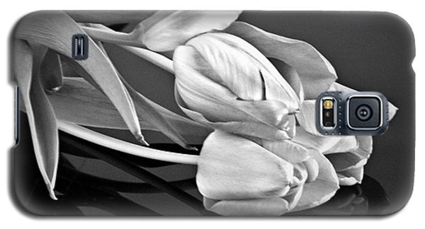 Even Tulips Are Beautiful In Black And White Galaxy S5 Case by Sherry Hallemeier